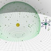 Die Anwesenheit eines einzelenen Ions in einer ultrakalten Gaswolke beeinflusst die Erzeugung eines Rydberg-Atoms in seiner Umgebung. Celina Brandes