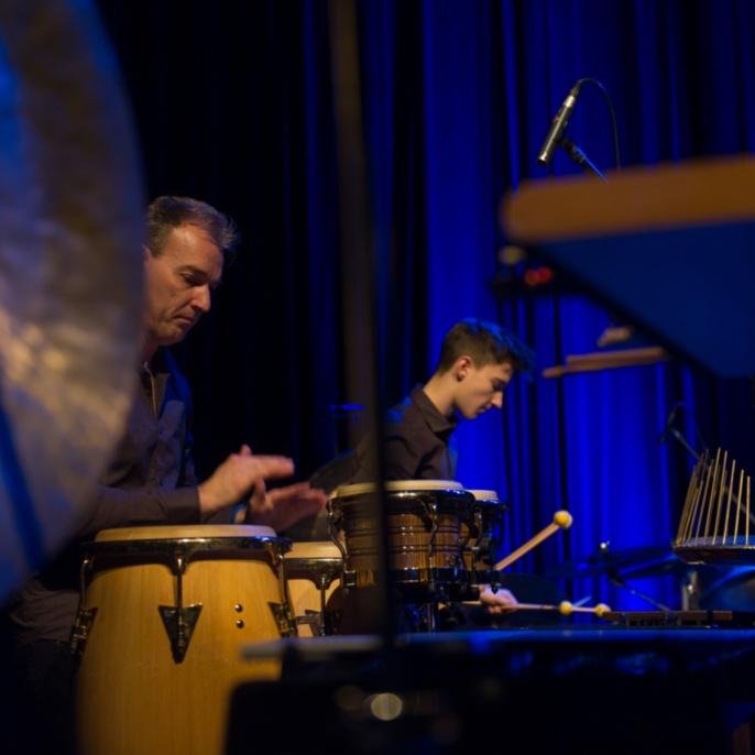 Klaus und Leon Küting, Küting-Nestel-Küting Percussion-Trio