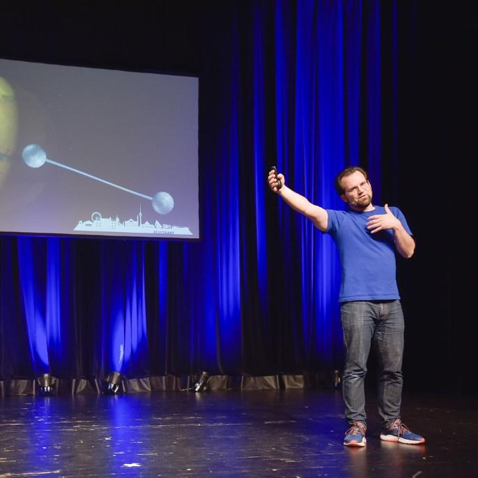 Fernbeziehungen in der Quantenwelt - verschränkt von Stuttgart bis zum Mars